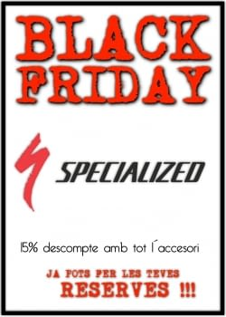 Ofertes Specialized Black Friday.