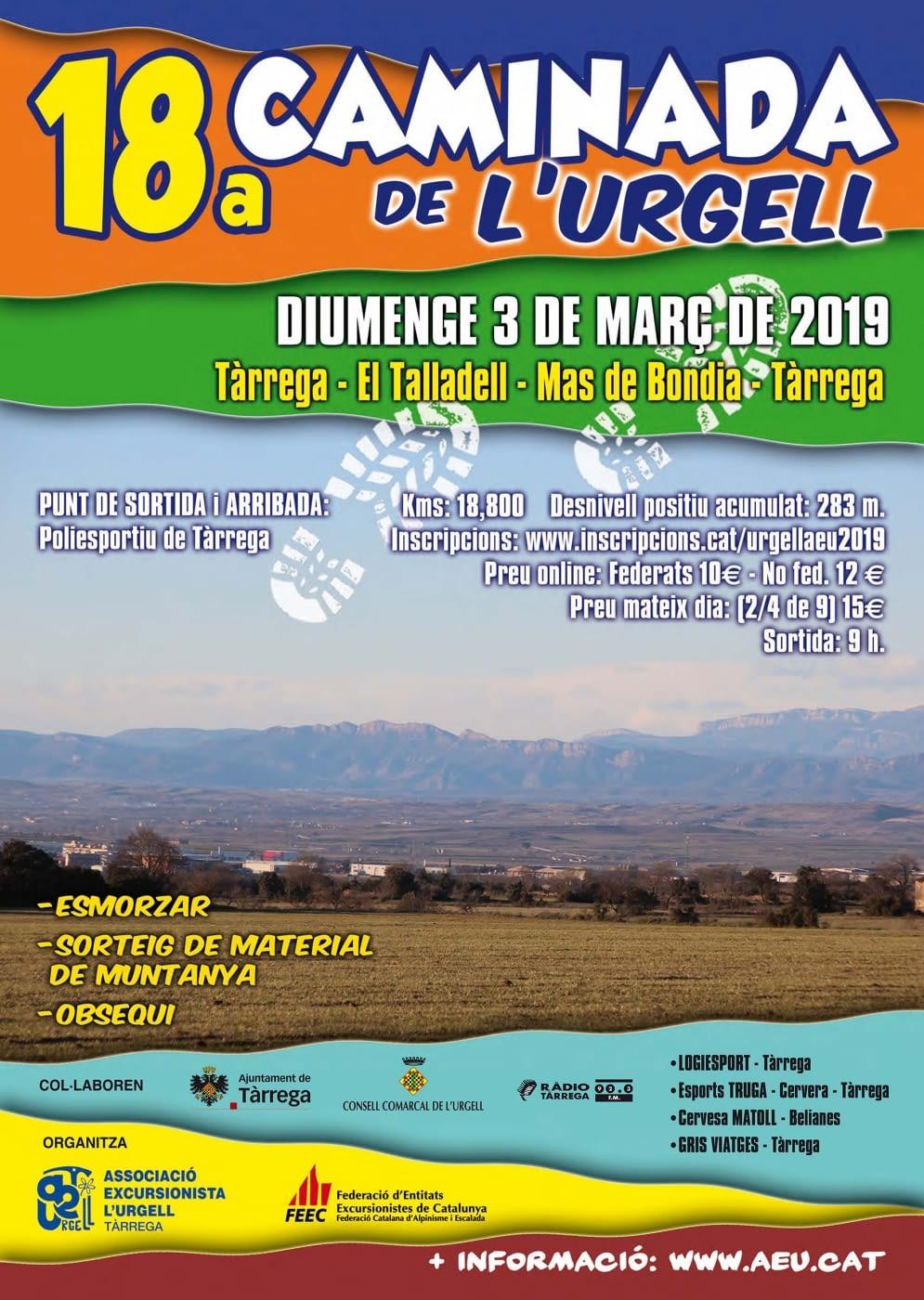 Galeria de fotos de la Caminada de l'Urgell 2019