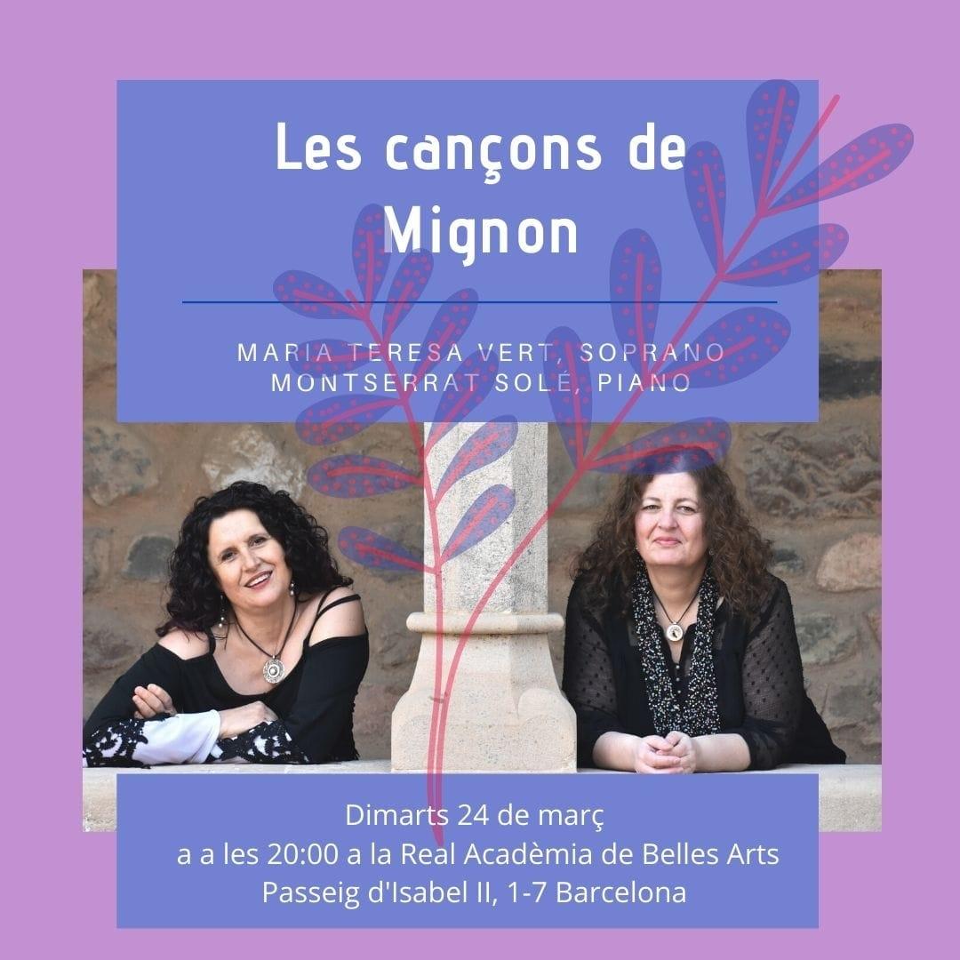 DUET MIGNON Concert 24 de març  a les 20.00h