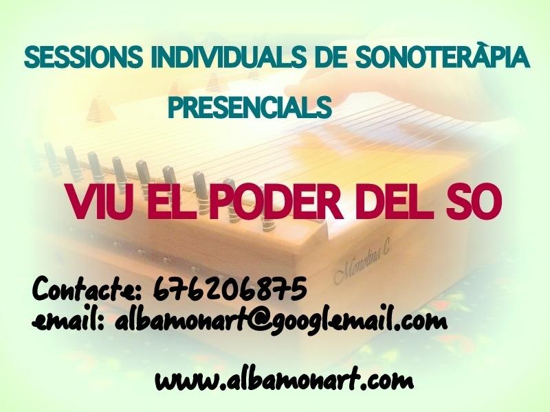 Sessions de sonoteràpia presencials / Sesiones de sonoterapia presenciales