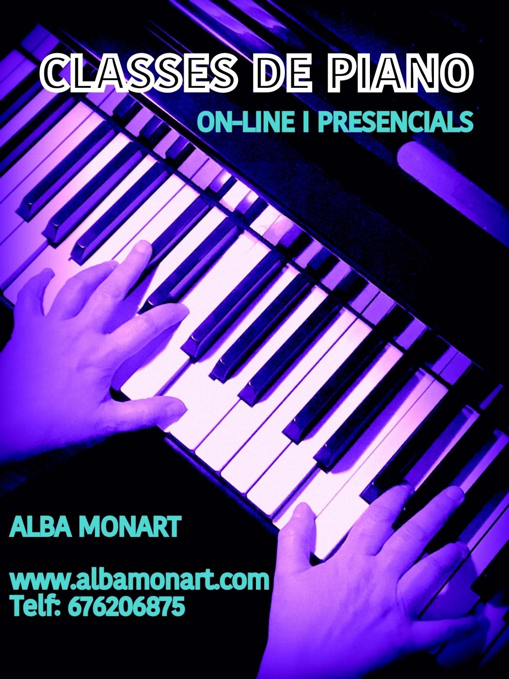 CLASSES DE PIANO ONLINE I PRESENCIALS CURS 20-21