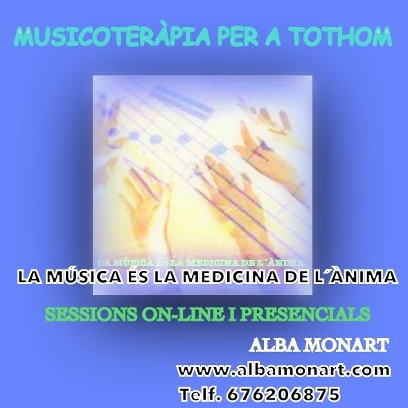 SESSIONS DE MUSICOTERÀPIA ON-LINE I PRESENCIALS