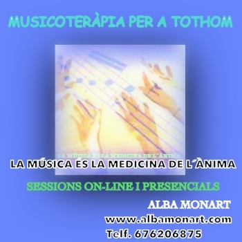 SESSIONS DE MUSICOTERÀPIA ON-LINE I PRESENCIALS