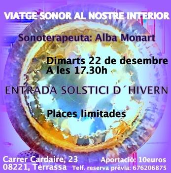 Viatge Sonor al nostre interior 22 de desembre de 2020 Solstici d´Hivern