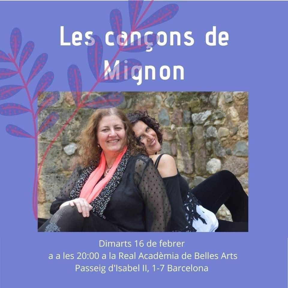 Concert Duet Mignon 16 de febrer de 2021 a les 20.00h Acadèmia Catalana de les Belles Arts de Sant Jordi