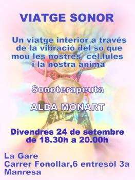 Viatge Sonor Inici Tardor 24 de setembre de 2021 a Manresa