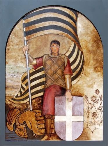 Mural Sant Jordi - Centenari Parc Sant Eloi - Amics arbre Tàrrega