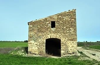 Cabana de volta del Marino amb un segon pis construït a sobre, de cabana amb teulada. És una autèntica raresa.
