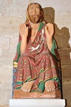 Altar major amb la imatge de Sant Salvador, patró del poble.