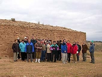 Tot el grup davant la cabana