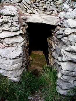 Entrada de la barraca més ben conservada