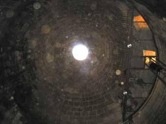 La part superior vista des de baix