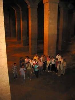 Vista més completa del conjunt de columnes