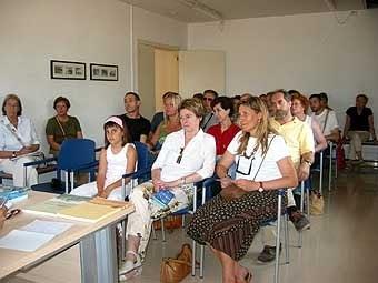 En una de les sales, presentem als assistents el llibre de l'arquitectura de l'aigua juntament amb els altres que ha publicat l'associació.