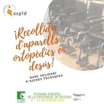 ASPID se suma a la Semana Europea de Prevención de Residuos con una Campaña de recogida de aparatos ortopédicos en desuso!!