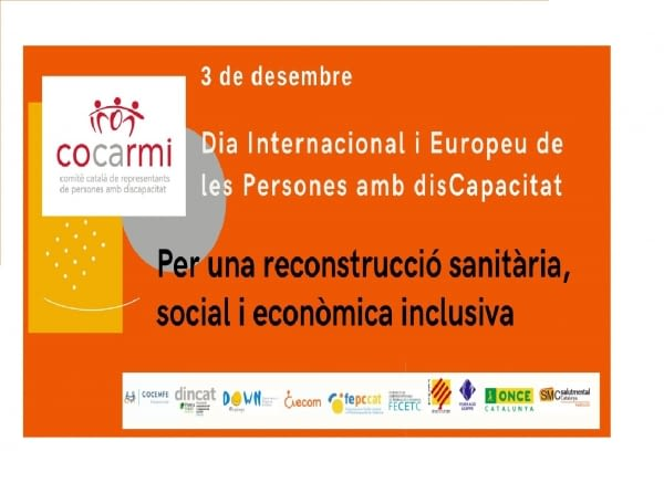 Manifest Dia Internacional de les Persones amb Discapacitat 2020