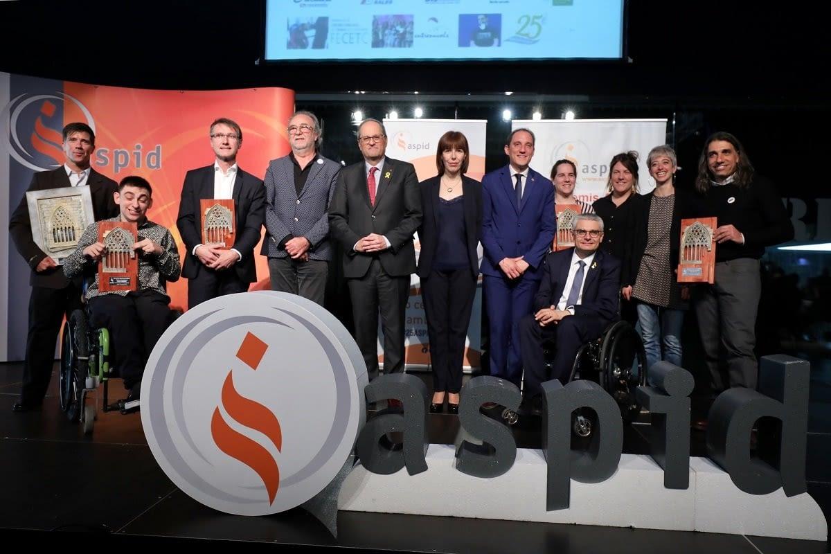 Premis ASPID a la integració laboral, l'esport, la música i l'humor inclusius