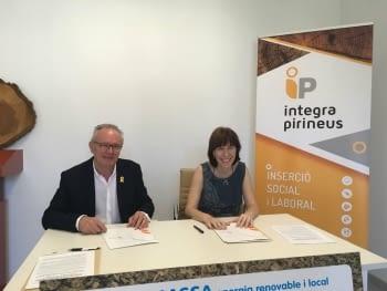 Aspid y Integra Prineus promueven la ocupación de las personas con riesgo de exclusión en el Alt Urgell