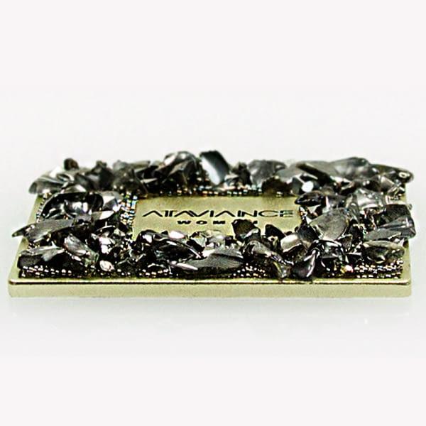 Etiquetas autoadhesivas de aluminio con pedrería personalizadas