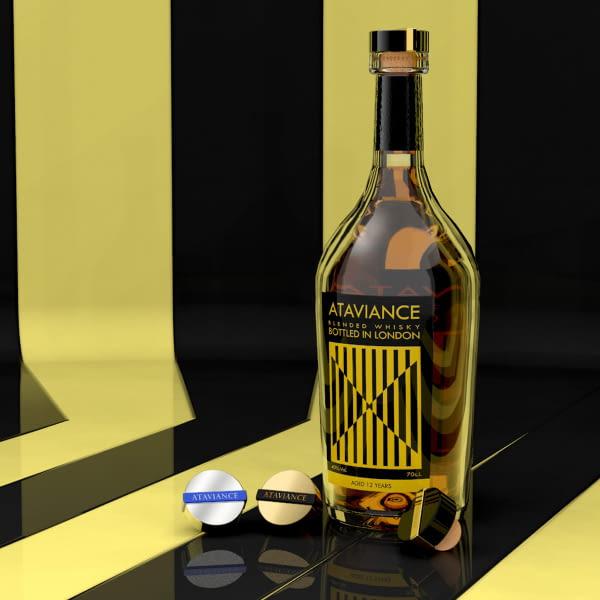 Tapón de zamak personalizado para botellas de spirits y destilados
