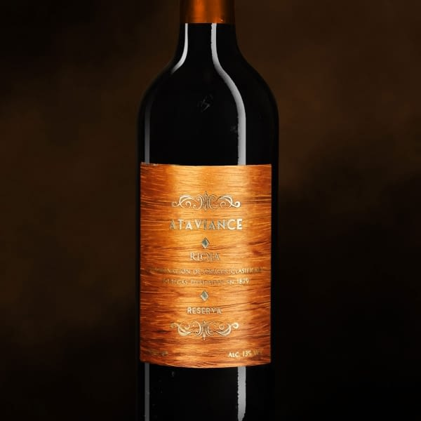 Personalized self-adhesive wood and aluminum label
