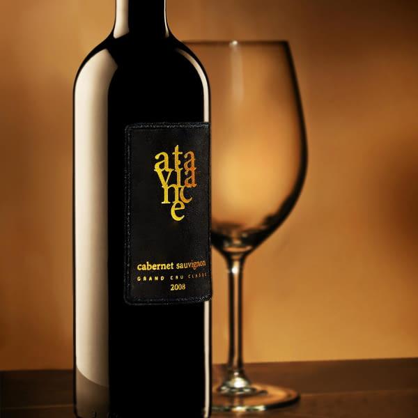 Selbstklebeetikett aus Samt zur Weinflaschen dekorieren