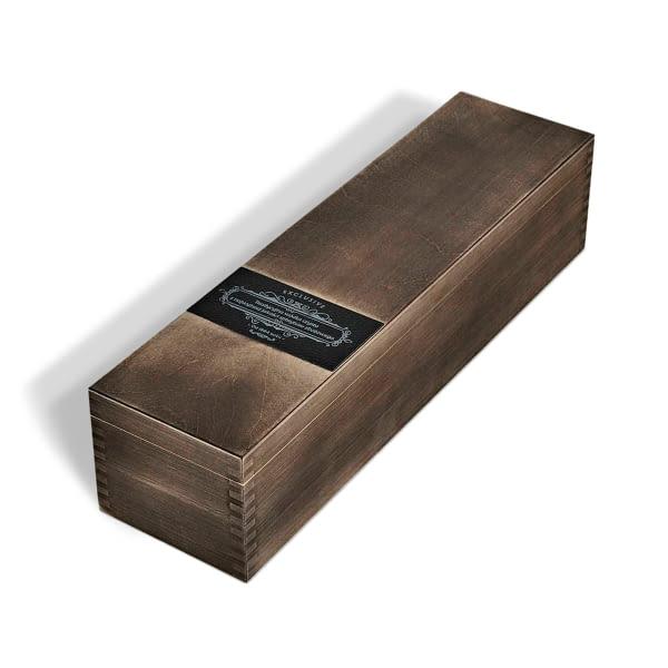 Holzkiste für Premiumprodukte