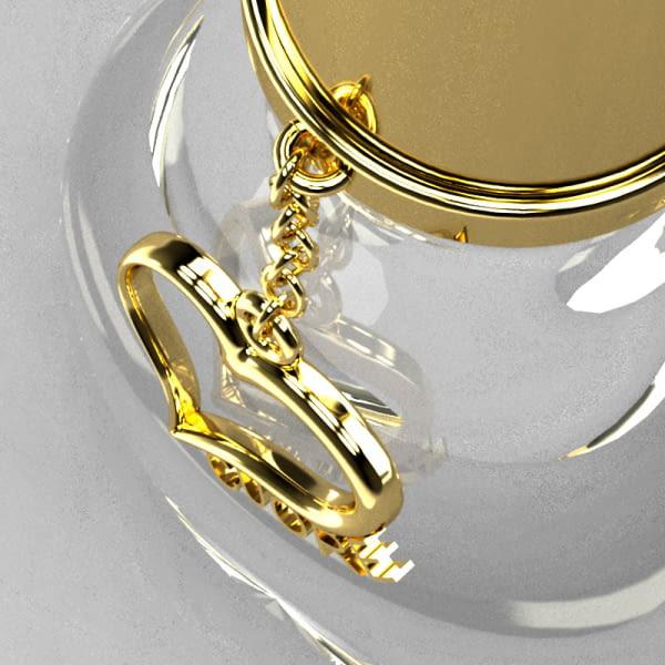 Cadena metálica decorativa personalizada para botellas de perfume