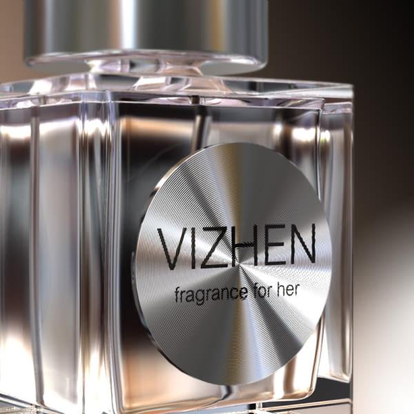 Etiqueta autoadhesiva de aluminio personalizada para decorar botellas de perfume