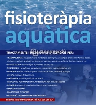 Tècnic expert en fisioteràpia aquàtica - Tractaments de Fisioteràpia Aquàtica personalitzats