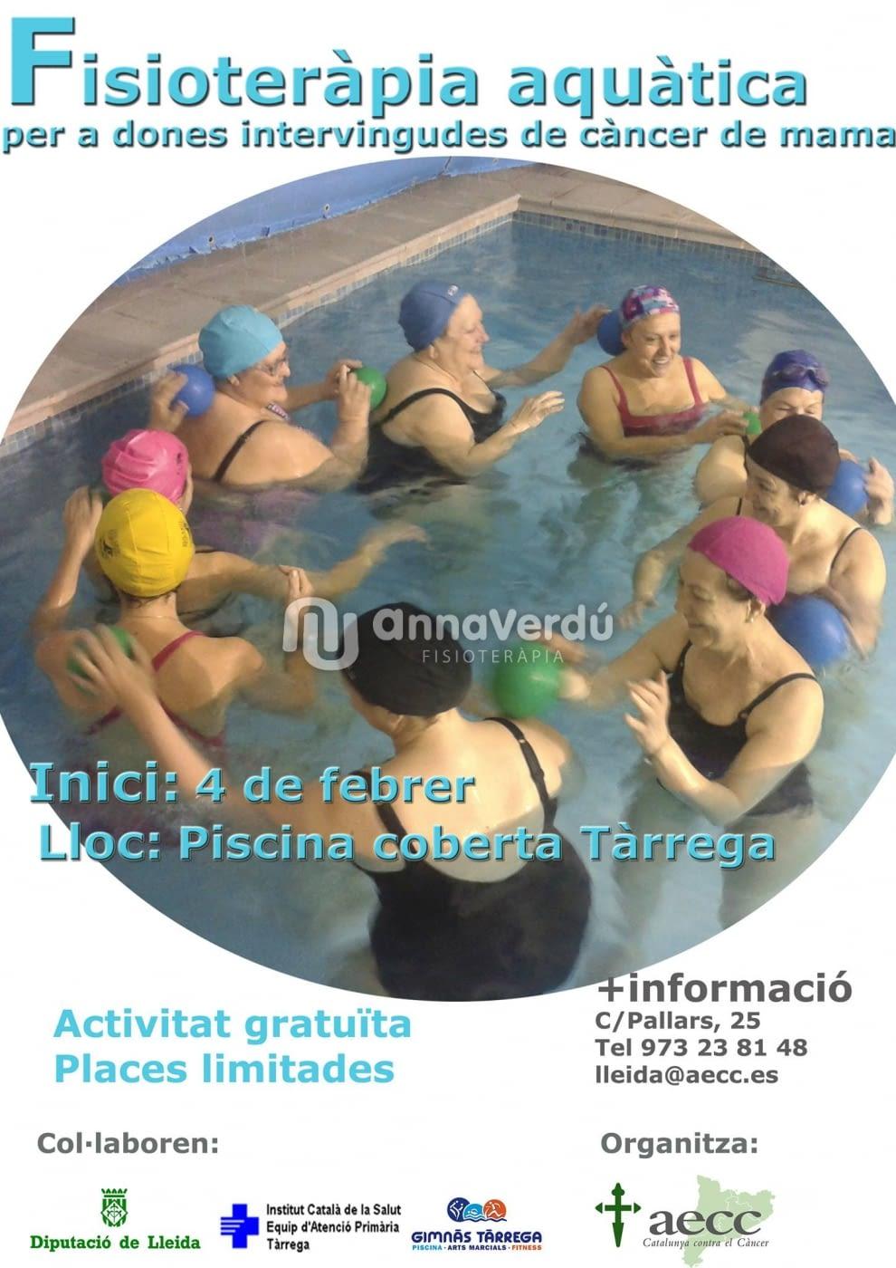 Fisioteràpia aquàtica per a dones operades de càncer de mama, organitzat per AECC