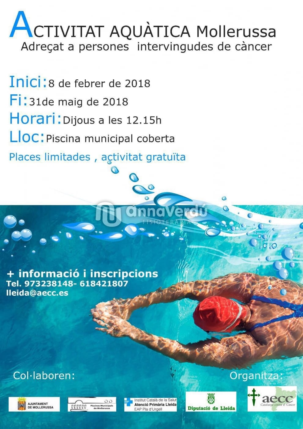 Fisioteràpia aquàtica Tàrrega-Mollerussa - AECC