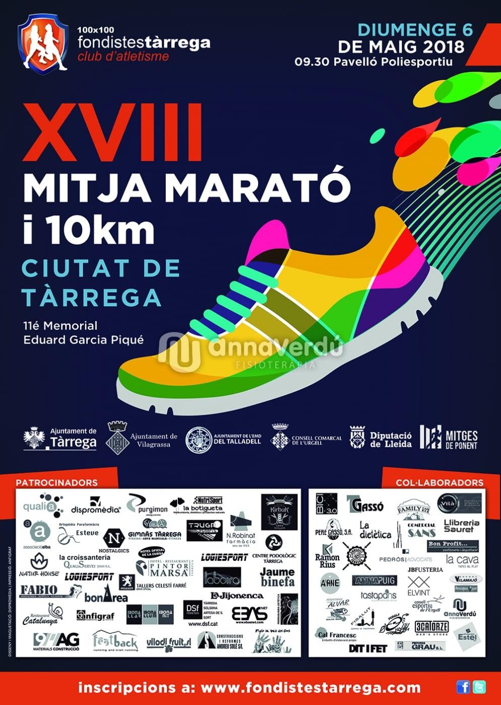 XVIII Mitja marató i 10 Kms - TÀRREGA
