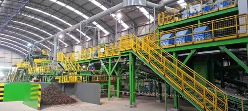 Recycled glass processing unit, Brazil