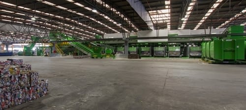 Packaging plant for the optimisation of waste sele