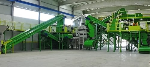 Glass recovery pilot plant of MSW composting
