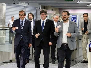 The president of the Generalitat de Catalunya, inaugurates the extension of FGC in Sabadell
