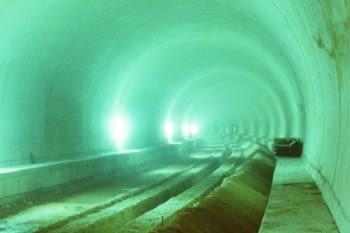 Zanjas de drenaje, tunel ferroviario de Vandellós