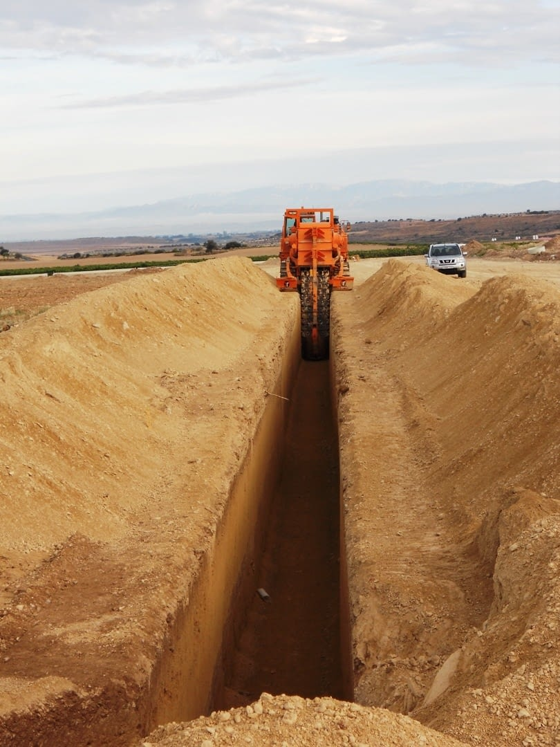 Obras en el sector 6 del sistema de regadío Segarra-Garrigues