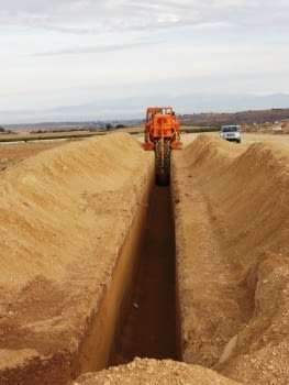 Works at section 6 of the irrigation system Segarra-Garrigues