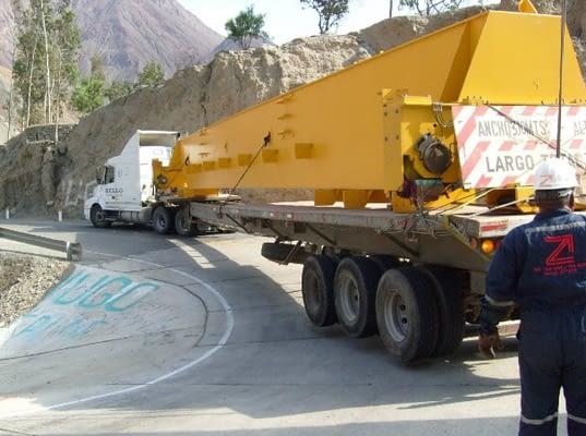 Dimensions de la càrrega en el vehicle industrial