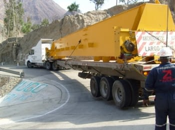 Dimensiones de la carga en el vehículo industrial