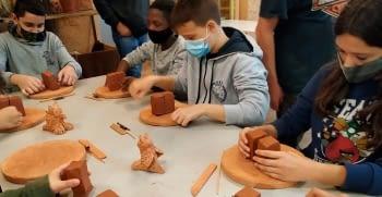Visita dels alumnes de 1er.d'ESO. Institut Alfons Costafreda.