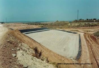 Fases de la construcció del dipòsit RSU