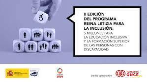 """Abierta la convocatoria de ayudas """"Programa Reina Letizia para la Inclusión"""""""