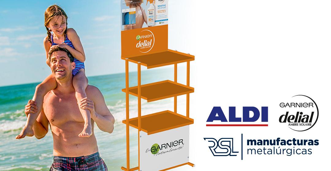 Garnier Delial for ALDI display stand
