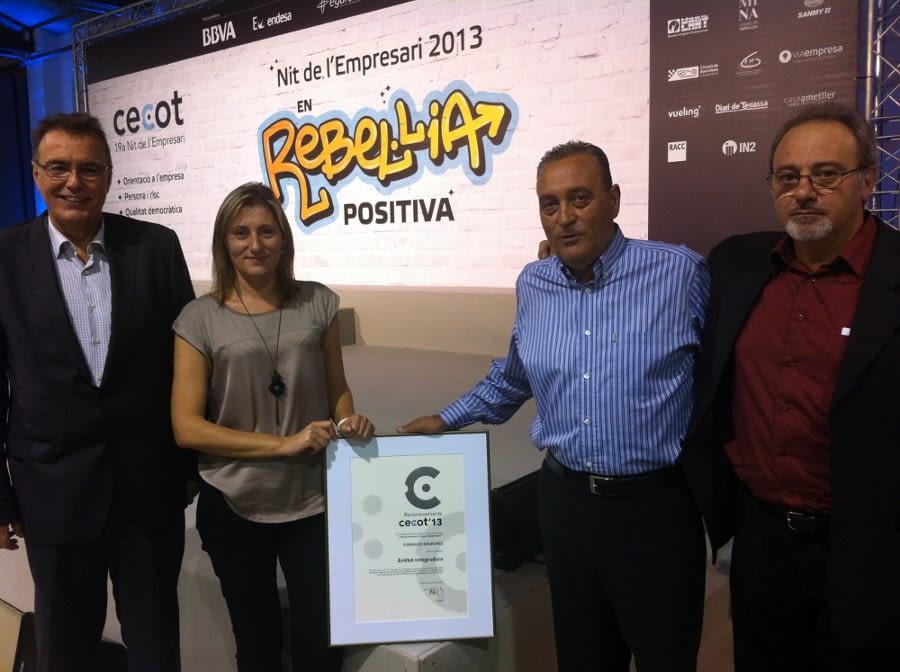 La CECOT concedeix a la Fundació Engrunes el premi a la millor Entitat Integradora