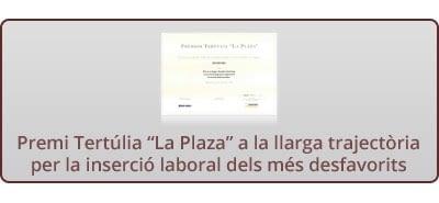 """Premi Tertúlia """"La Plaza"""""""