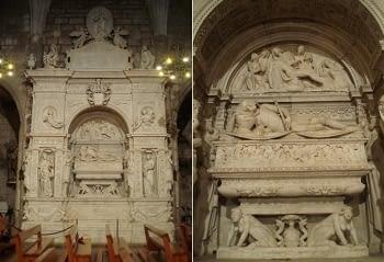 Reproducció d'un relleu del Mausoleu de Ramon Folch de Cardona