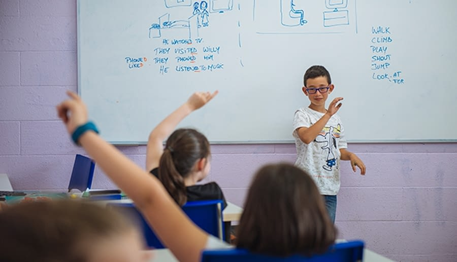 student being teacher